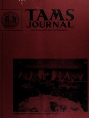 TAMS Journal, Vol. 13, No. 5