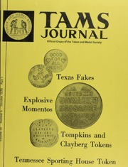 TAMS Journal, Vol. 19, No. 5 Part I