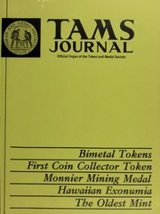TAMS Journal, Vol. 20, No. 5