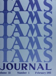 TAMS Journal, Vol. 23, No. 1