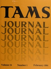 TAMS Journal, Vol. 24, No. 1