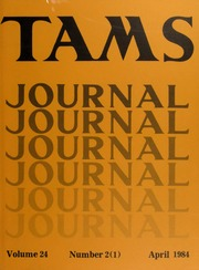TAMS Journal, Vol. 24, No. 2