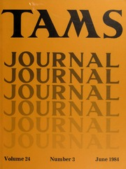 TAMS Journal, Vol. 24, No. 3