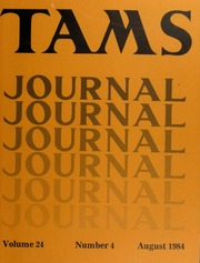 TAMS Journal, Vol. 24, No. 4