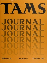 TAMS Journal, Vol. 24, No. 5