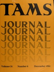 TAMS Journal, Vol. 24, No. 6