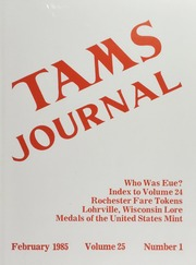 TAMS Journal, Vol. 25, No. 1