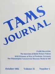 TAMS Journal, Vol. 25, No. 5