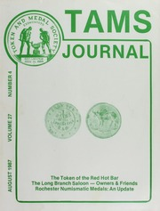 TAMS Journal, Vol. 27, No. 4