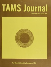 TAMS Journal, Vol. 29, No. 1