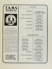 TAMS Journal, Vol. 29, No. 4