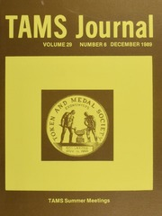 TAMS Journal, Vol. 29, No. 6