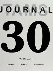 TAMS Journal, Vol. 31, No. 1