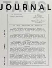 TAMS Journal, Vol. 31, No. 4