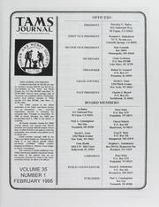 TAMS Journal, Vol. 35, No. 1
