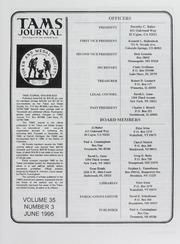 TAMS Journal, Vol. 35, No. 3