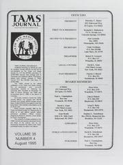 TAMS Journal, Vol. 35, No. 4