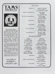 TAMS Journal, Vol. 37, No. 1