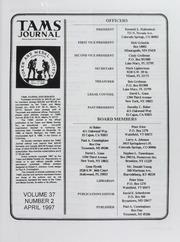 TAMS Journal, Vol. 37, No. 2