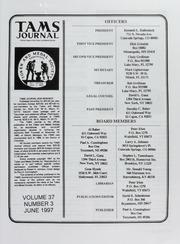 TAMS Journal, Vol. 37, No.3
