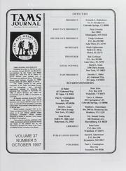TAMS Journal, Vol. 37, No. 5