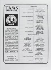 TAMS Journal, Vol. 38, No. 1