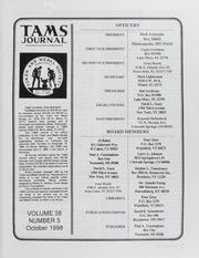 TAMS Journal, Vol. 38, No. 5