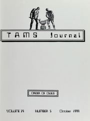 TAMS Journal, Vol. 39, No. 5