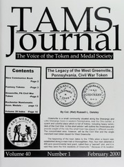 TAMS Journal, Vol. 40, No. 1