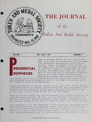 Journal of the Token and Medal Society, Vol. 5, No. 3
