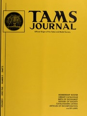 TAMS Journal, Vol. 8, No. 3 (Part 2)