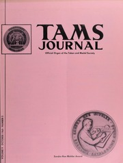 TAMS Journal, Vol. 9, No. 5