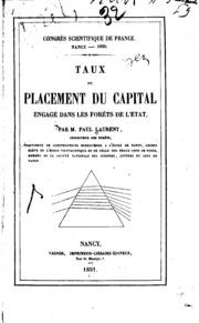 Taux du placement du capital engagé dans les forêts de l-état