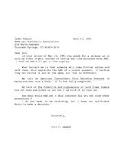 James Taylor Correspondence, 1991 to 1999
