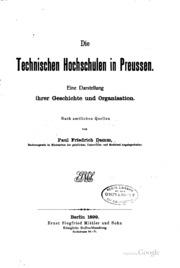 Technischen Hochschulen in Preussen