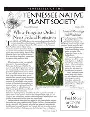 Vol v.39:no.3 2015: Tennessee Native Plant Society newsletter