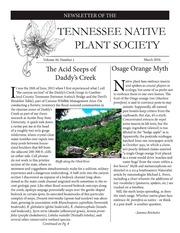 Vol v.40:no.1 2016: Tennessee Native Plant Society newsletter