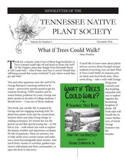 Vol v.40:no.4 2016: Tennessee Native Plant Society newsletter
