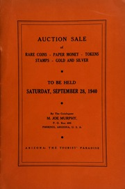 Tenth auction sale : catalogue of rare coins, tokens, paper money, miscellaneous gold and silver ... [09/28/1940]