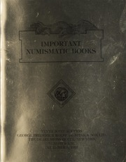 Important Numismatic Books: Tenth Joint Auction