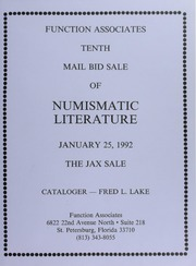 Tenth Mail Bid Sale of Numismatic Literature