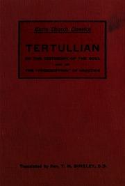 tertullians the prescription against heretics