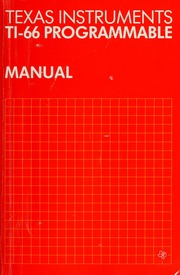 Texas Instruments Ti 66 Programmable Manual Ward Dick