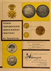 Texas numismatic association auction in Houston. [04/26-27/1974]