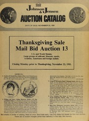 Thanksgiving Sale: Mail Bid Auction 13