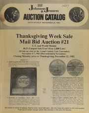 Thanksgiving Week Sale: Mail Bid Auction #21