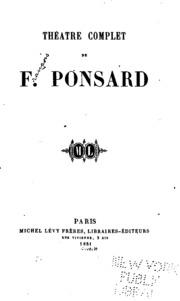 Théatre complet de F. Ponsard