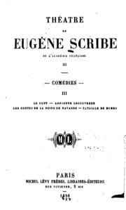 Théatre de Eugène Scribe