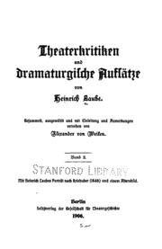 Theaterkritiken und dramaturgische Aufsätze