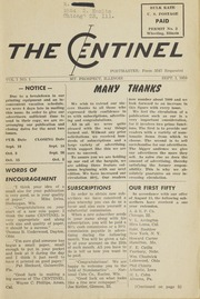 The Centinel Vol. 1 No. 1